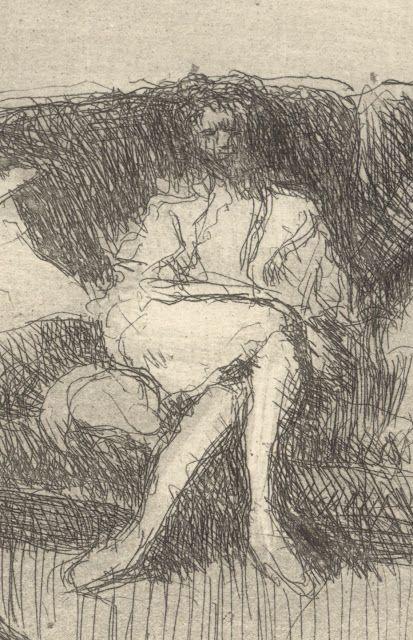 Édouard Vuillard (1868–1940) | Interieur au Canape ou Soir (1930 ...