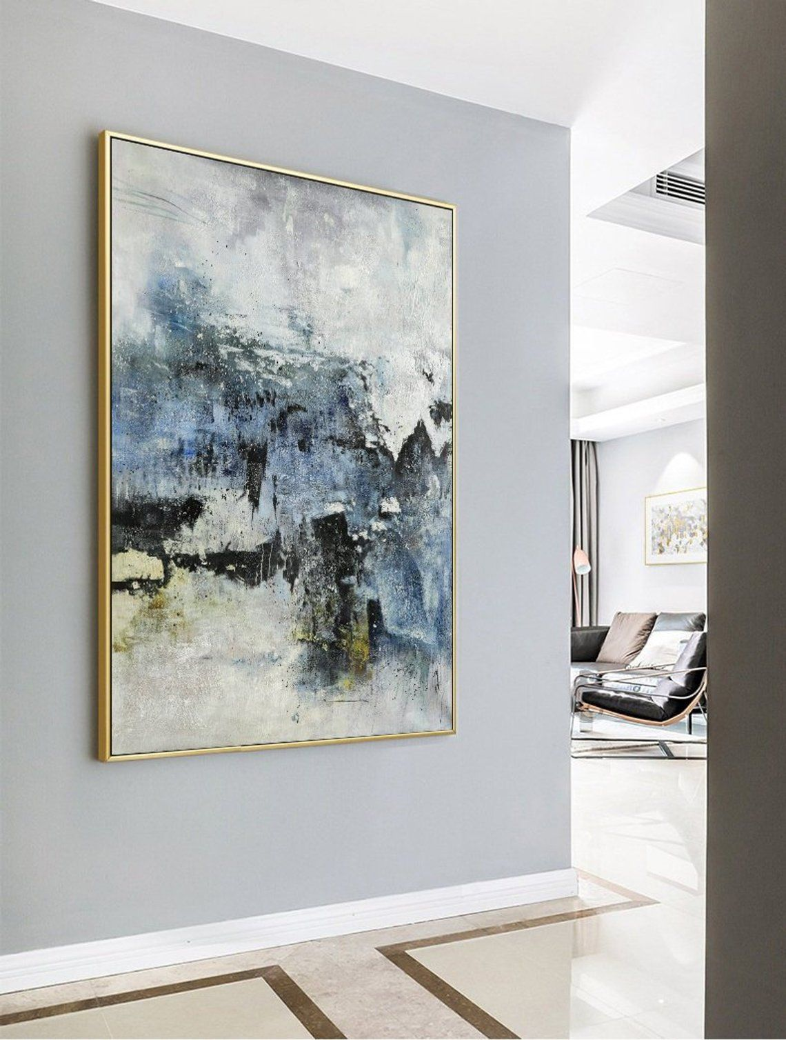 Original Abstract Painting,Large Abstract Art,Living Room ...