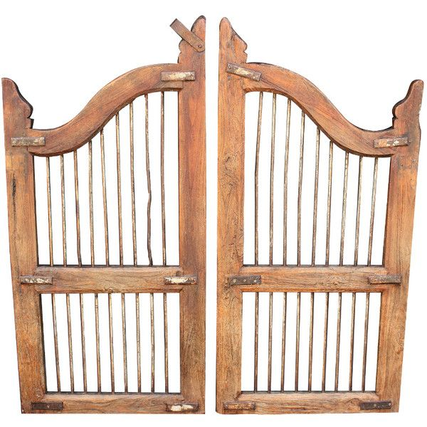 1STDIBS.COM - Antique Swan - Pair of Wooden Gates (Dog Gates) ❤ liked on Polyvore