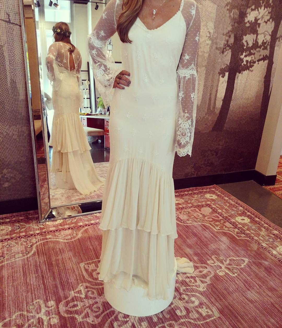 Chantel Lauren Boho Wedding Dress | Asheville NC Bridal Shop | Instagram  Photo By @wildflowerbridal