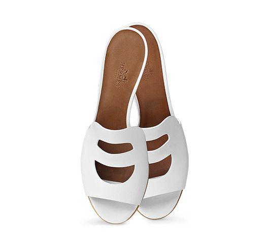 735007e64c71 Mona Hermes ladies  sandal in calfskin