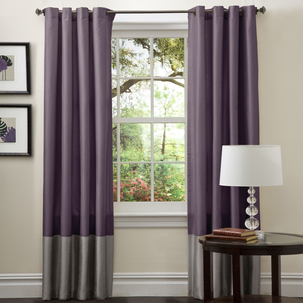Exceptional Add A Subtle Pop Of Color To Your Living Room With These Purple Curtain  Panels From