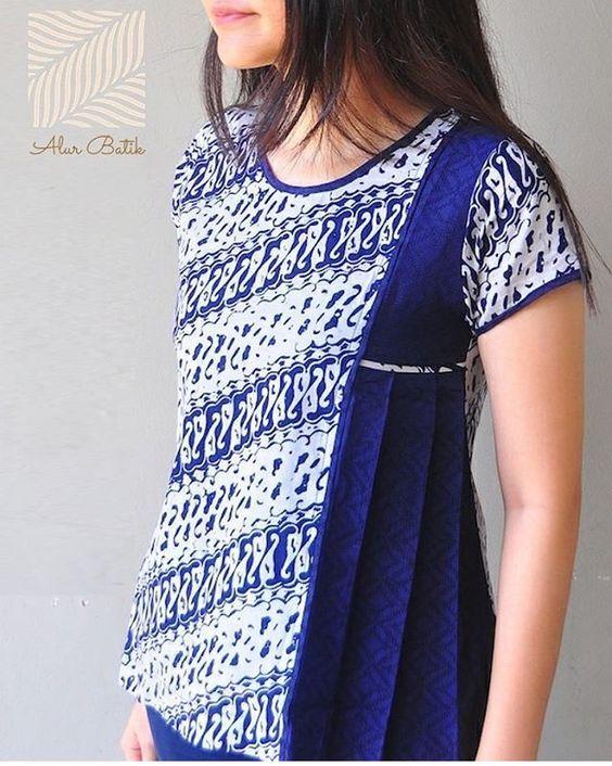 Model Baju Batik Atasan Pakaian Modis Desain Blus Dan
