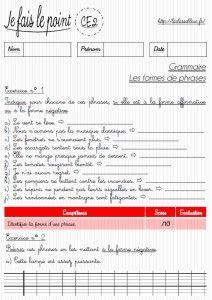 Laclassebleue Ce2 Grammaire Les Evaluations Ce2 Evaluation Ce2 Interlignes Ce2