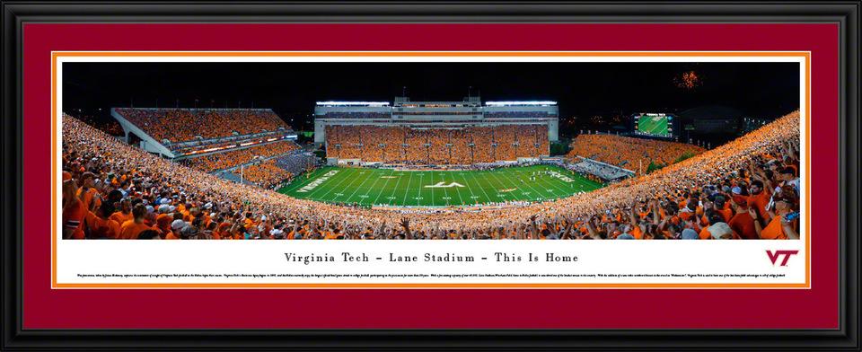 Virginia Tech Hokies Panoramic Picture Lane Stadium