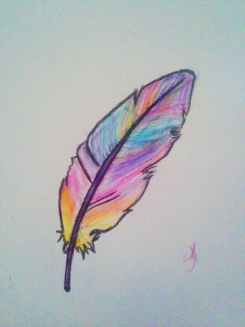 How To Draw A Feather Art Drawings Simple Feather Drawing Cool Art Drawings