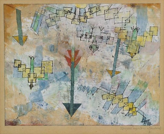 Paul Klee  Birds Swooping Down and Arrows, 1919