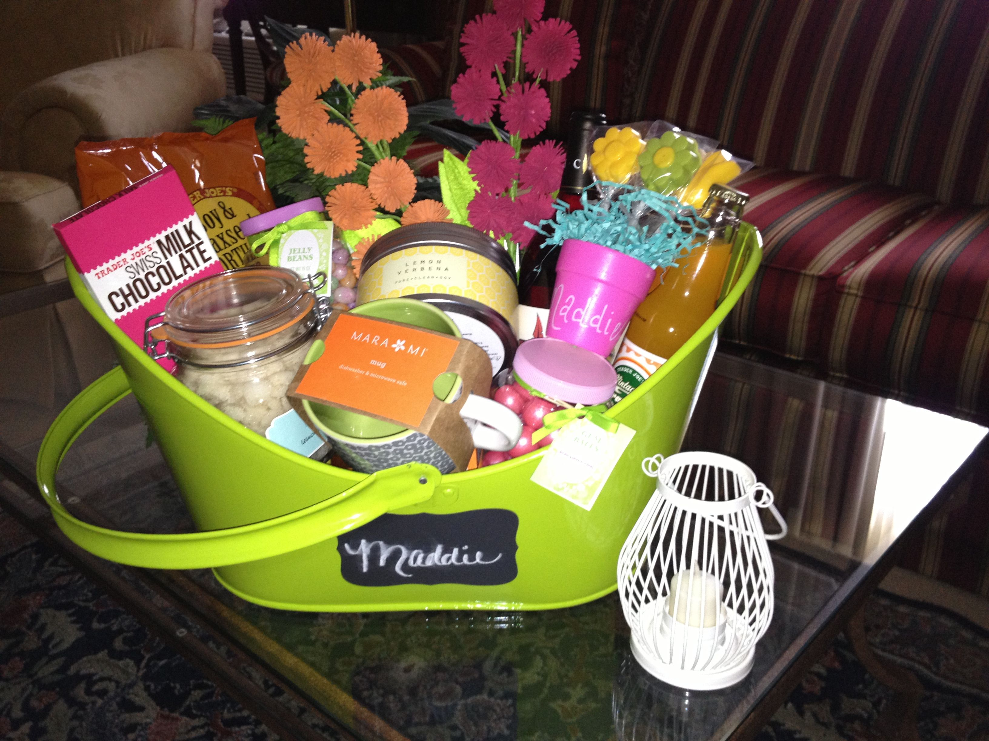 Spring Themed Personalized Gift Basket