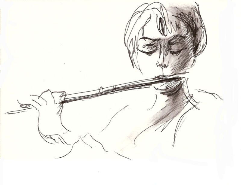 Fl te traversi re 2006 musical artwork pinterest - Dessin de flute ...