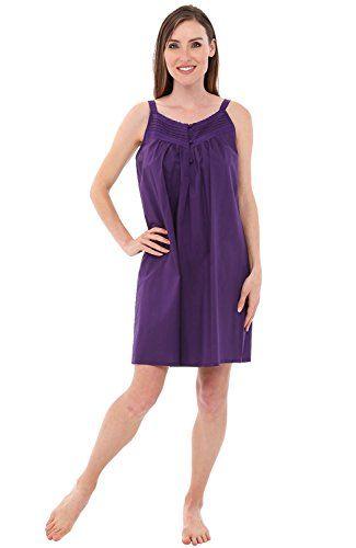 Alexander Del Rossa Womens Priscilla Cotton Nightgown c21085502