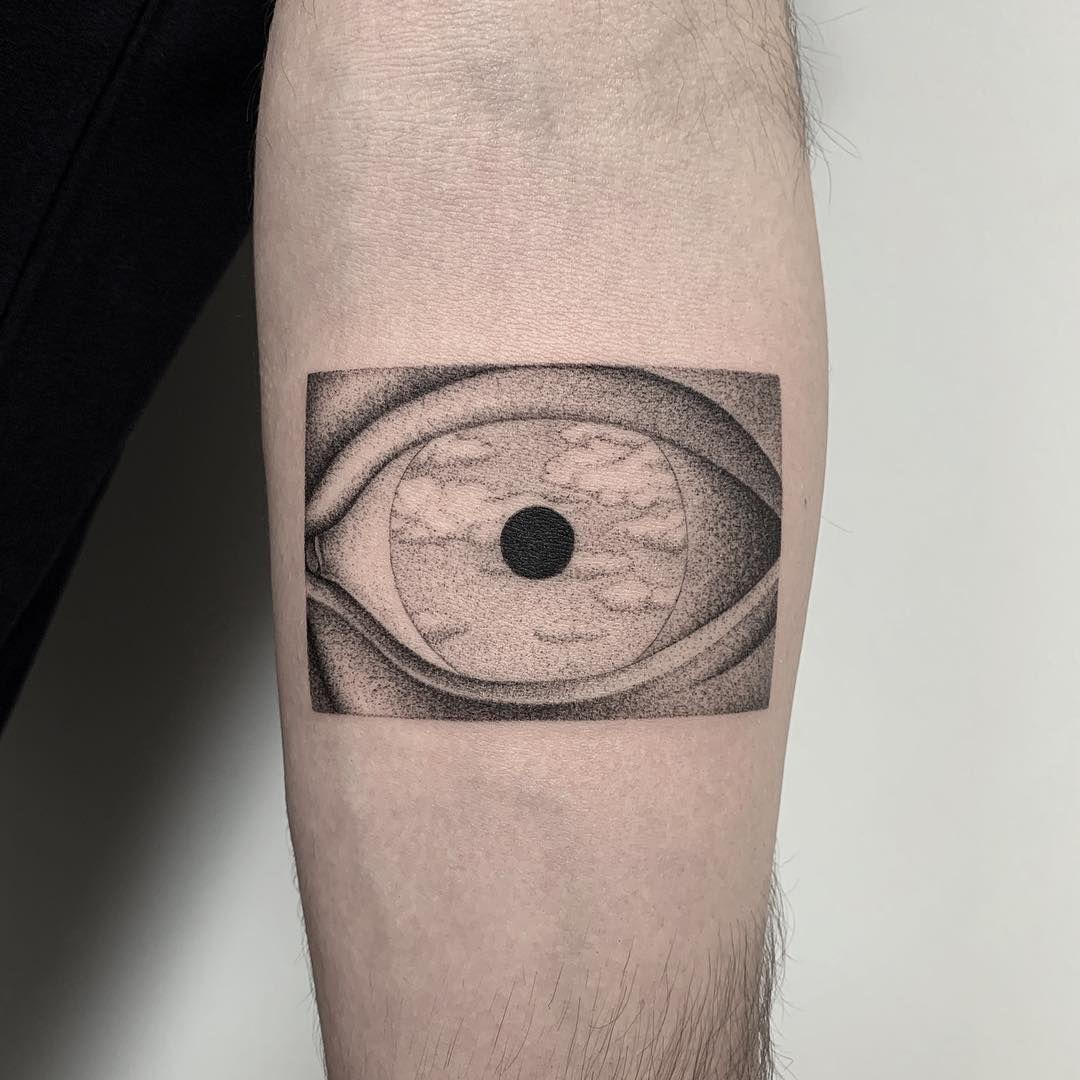 Il Falso Specchio.Reinterpretazione Di Magritt Tattoo Artists Tattoos Magritte