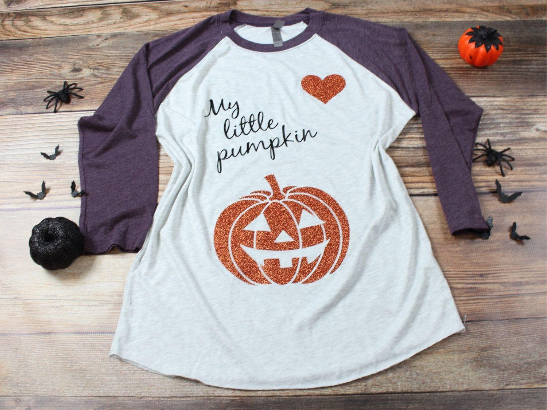 977d5d2273b48 My little Pumpkin Maternity Halloween shirt | maternity | Halloween ...