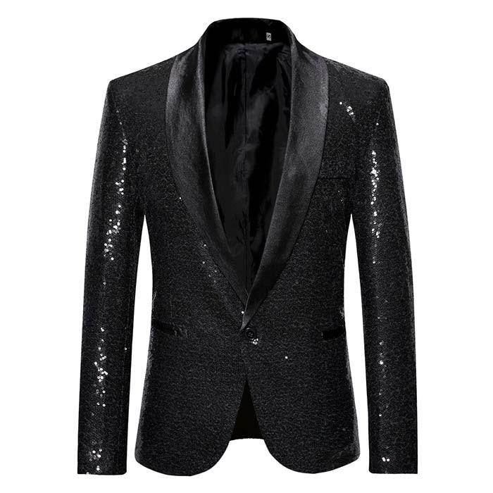 Men S Suit Jacket Men Blazers Slim Fit Sequin Dress One Button Coat Dinner Party Wedding Men Bla Blazer For Men Wedding Blazers For Men Casual Slim Fit Blazers