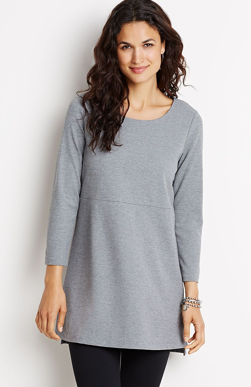 petite lightweight ponte knit tunic from J.Jill | Clothing - Work ...