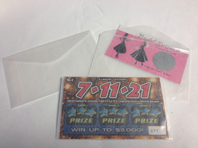 50 Wedding Favors Lottery Ticket Glassine Envelopes Lotto Shower ...