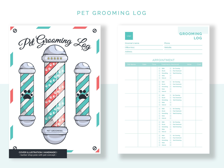 Pet Grooming Pet Services Log Pet Treats Pricing List Etsy In 2021 Pet Grooming Baby Grooming Service Animal