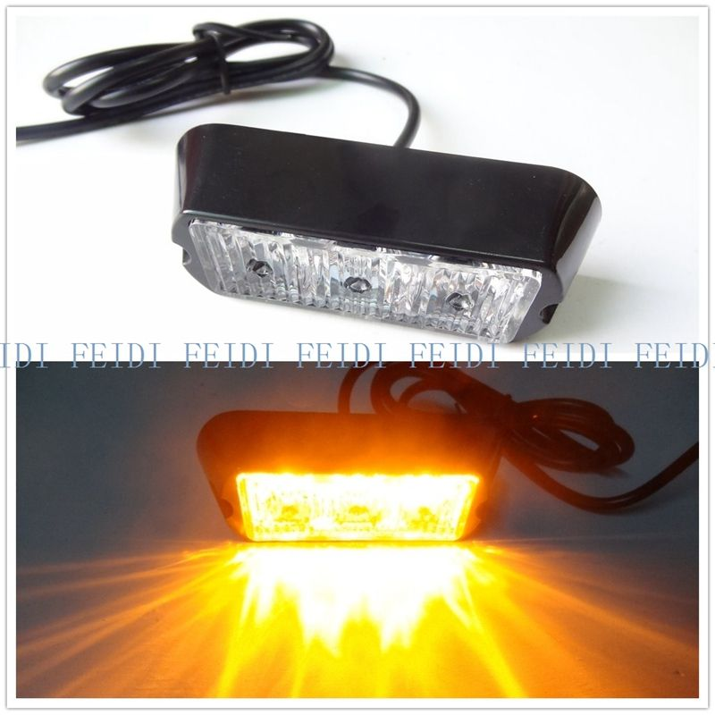 Free Shipping Video New 08003 3w 3led 12v 3w 3 Led Car Truck Flash Strobe Emergency Warning Light Bulb High Power Car Lights Car Lights Strobing Warning Lights