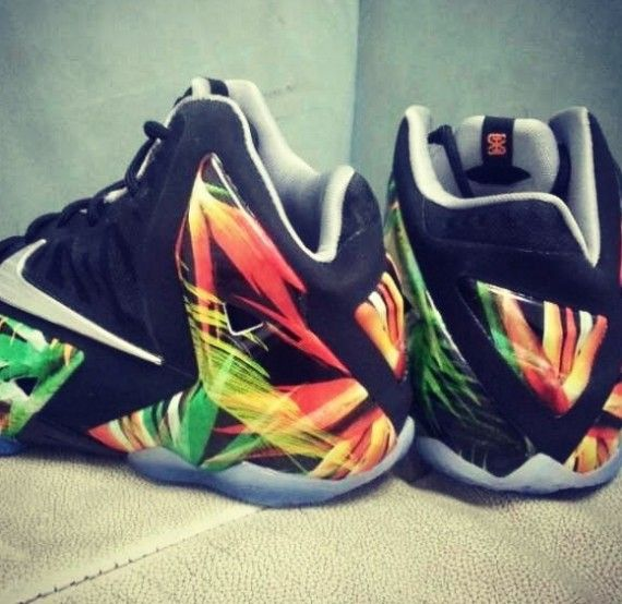 sports shoes 6d654 ab03f Nike LeBron 11 EXT Palm Trees Detailed Pictures. Find this Pin and more ...