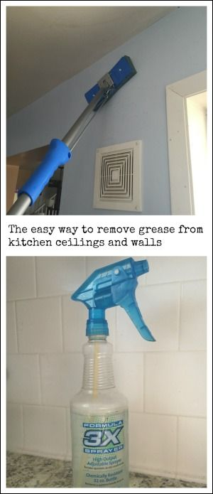 The Easy Way To Clean Grease Build Up From Kitchen Ceilings And Walls