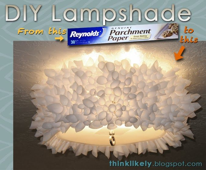 Think likely diy parchment paper lamp shade furniture decor think likely diy parchment paper lamp shade aloadofball Images