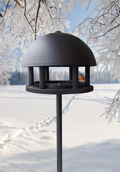 vogelfutterhaus im exclusiven d nischen design dome black futterhaus vogelfutterh uschen. Black Bedroom Furniture Sets. Home Design Ideas