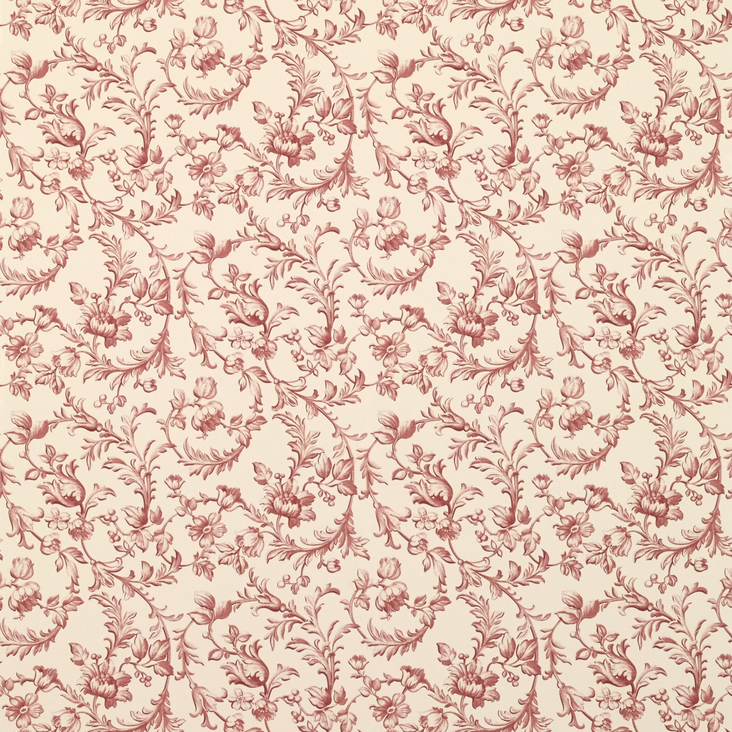 Ironwork Scroll Cranberry Wallpaper at LAURA ASHLEY / Ironwork Scroll Cranberry Cotton Fabric - Heritage Collection