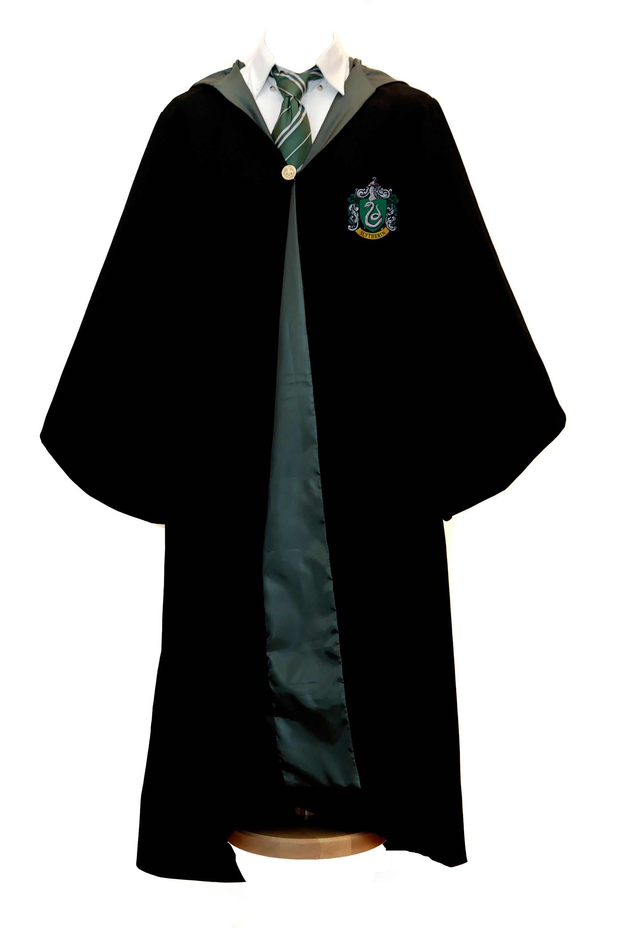Harry Potter Wizard Robe Cloak Slytherin The drawing of this dress ...