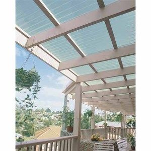 Ampelite Suncall Corrugated Pvc Sheeting W 660mm L 2400mm Frosted Pergola Pergola With Roof Patio