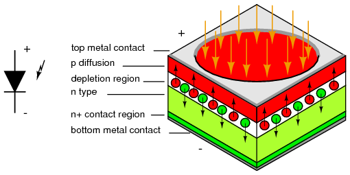 Photodiode Schematic Symbol And Cross Section Knowledge