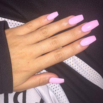 Light Pink Matte Acrylic Nails