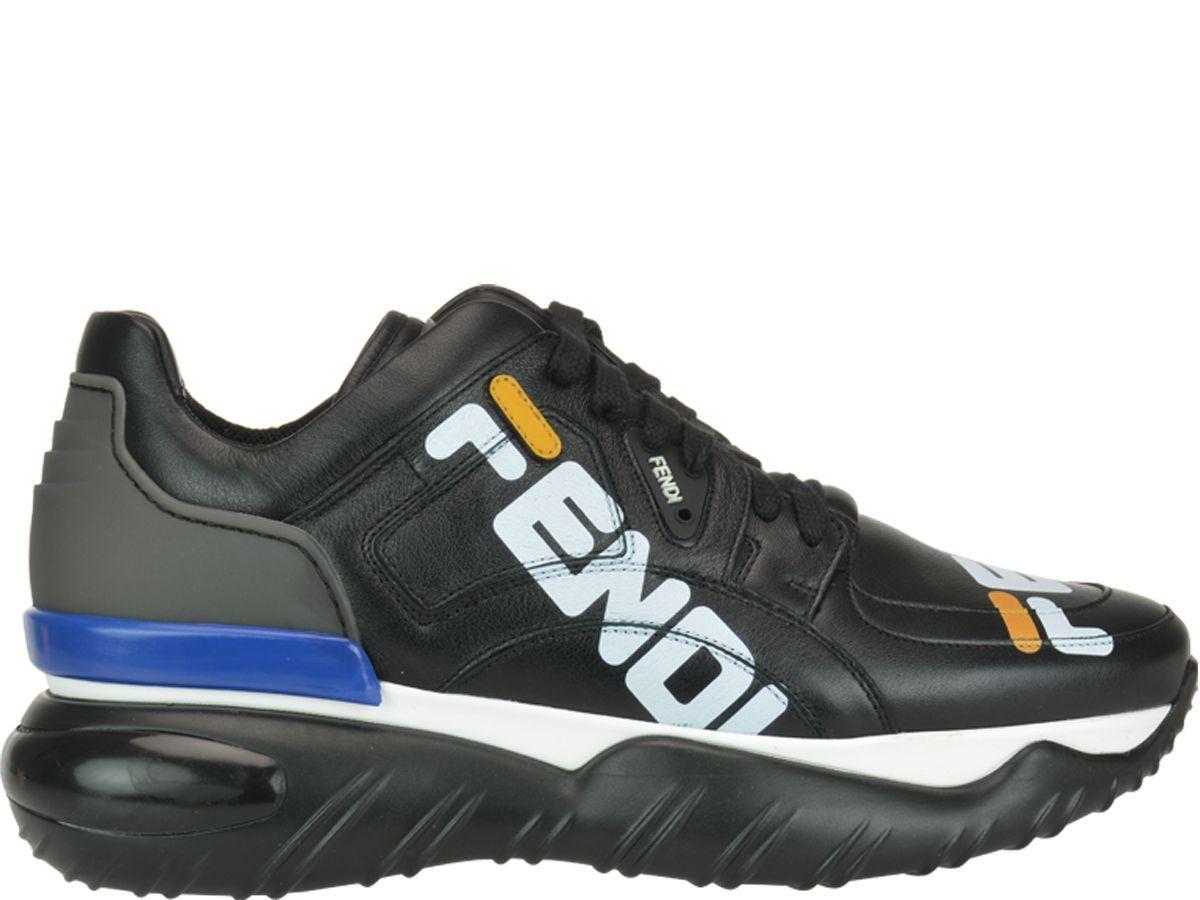 Fendi Men's Shoes Leather Trainers