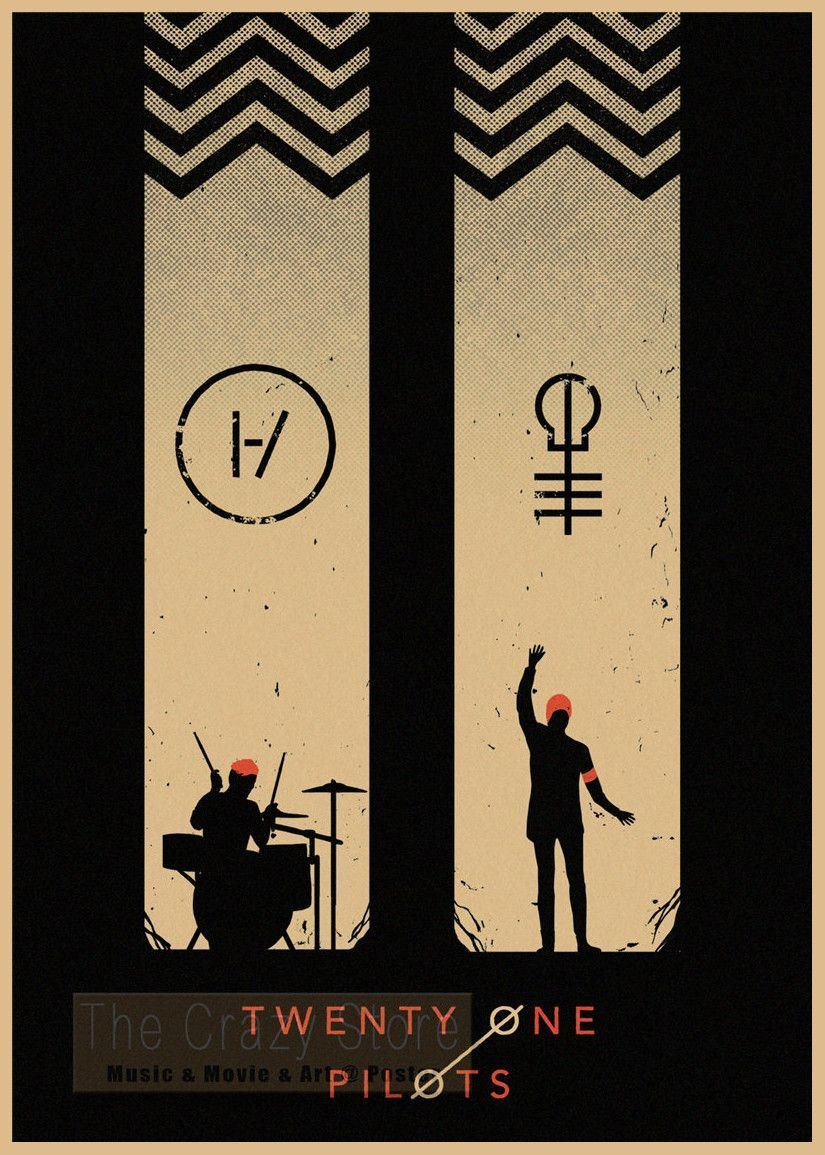 Twenty One Pilots - Retro Paper Poster Wall Sticker Group 1 | Poster ...