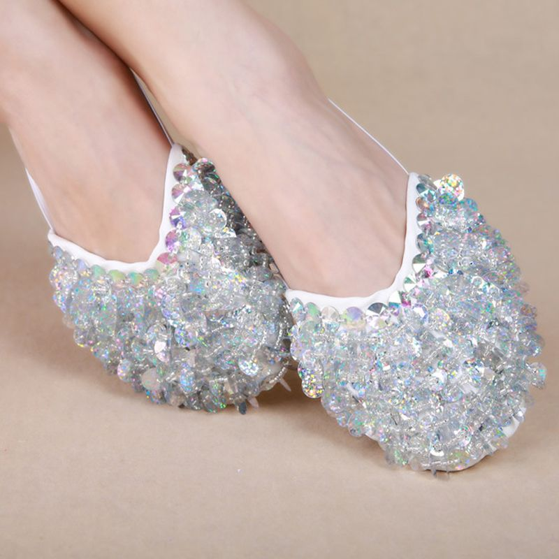 5dc43abd5 Click to Buy    New design belly dance sequins Shoes for Ballet ...