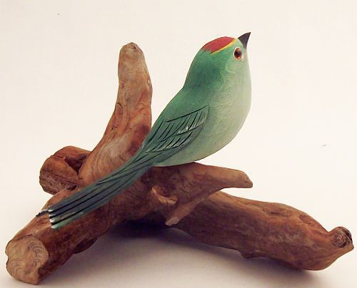 Bird Carving - Ruby-Crowned Kinglet