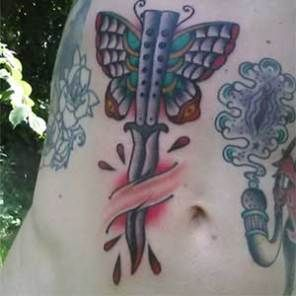 Balisong Tattoo Tattoos Tattoos For Guys Butterfly Knife