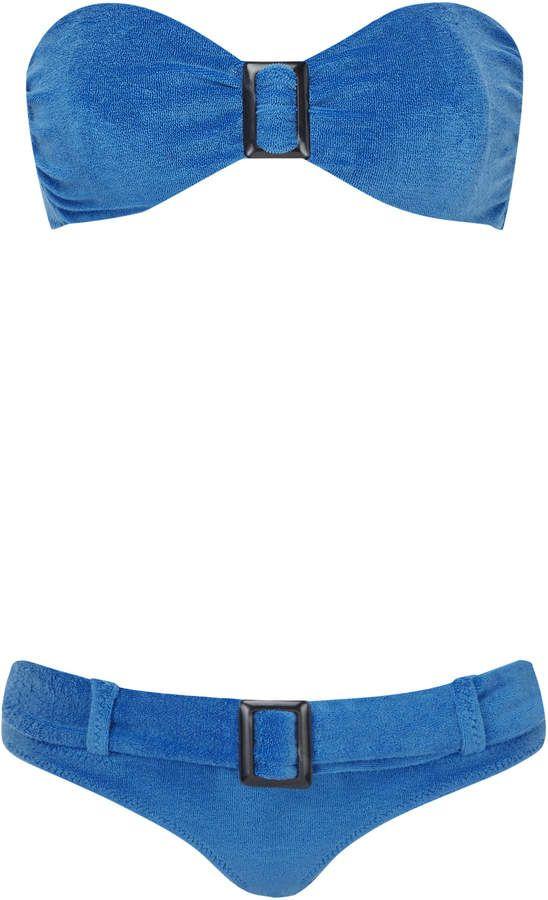 Lisa Marie Fernandez Belted Terry Bandeau Bikini #Sponsored , #ad, #Fernandez#Marie#Lisa