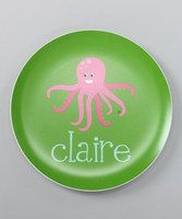 This adorable plate boasts plucky personalization and sturdy melamine construction. Completely dishwasher safe and totally one-of-a-kind, this perfect piece makes a charming addition to a delightful dining collection.Personalization available up to 35 characters10'' diameterMelamineDi...