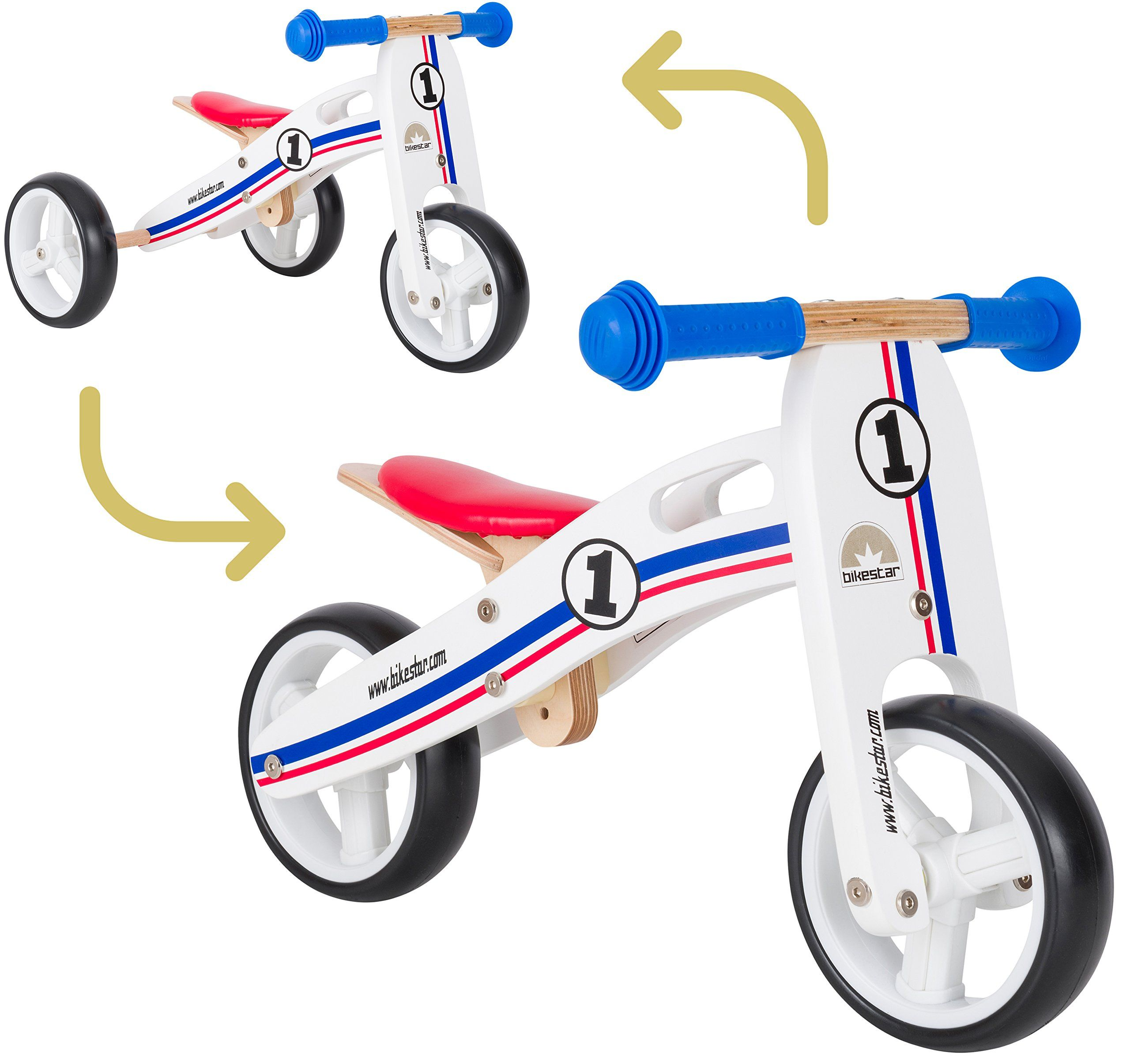 Bikestar Original Safety Wooden Lightweight Kids First Balance