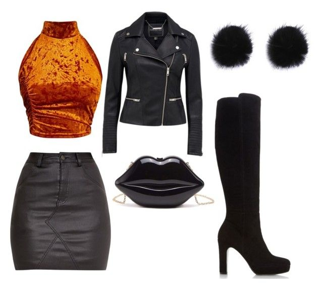 """""""Leather"""" by lenaroberton on Polyvore featuring Dune"""