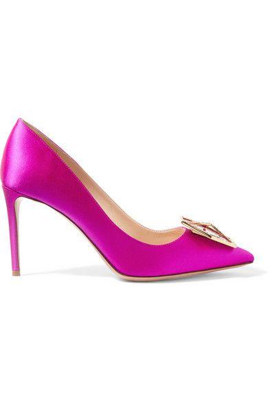 NICHOLAS KIRKWOOD Eden Jewel Crystal-Embellished Satin Pumps. #nicholaskirkwood #shoes #pumps