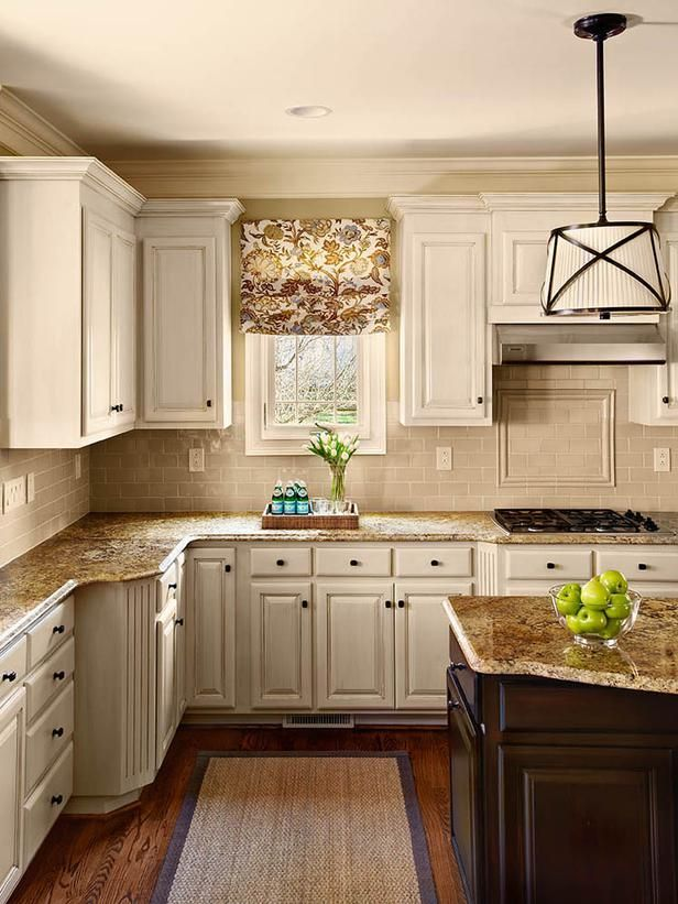This Traditional Kitchen Features Painted Cabinets Dark Brown
