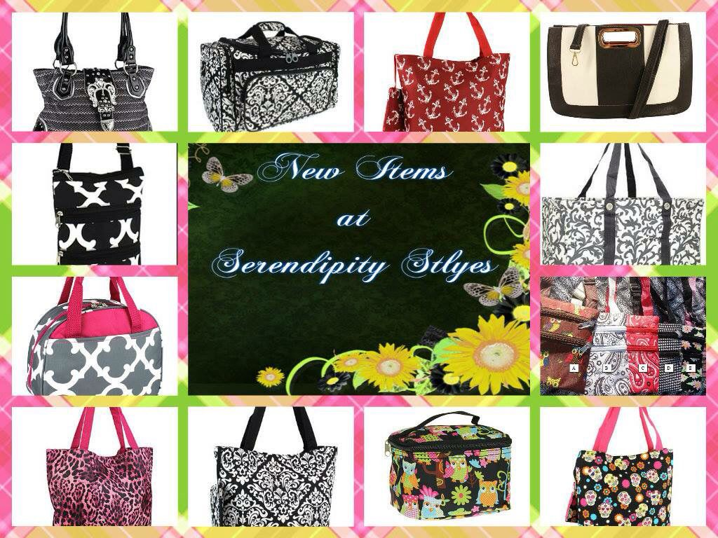 #NewItems in at #SerendipityStyles!!! #Bags #Totes #Purses, etc!! Look around and shop in my store at www.shopserendipitystyles.com/#Kshumate.