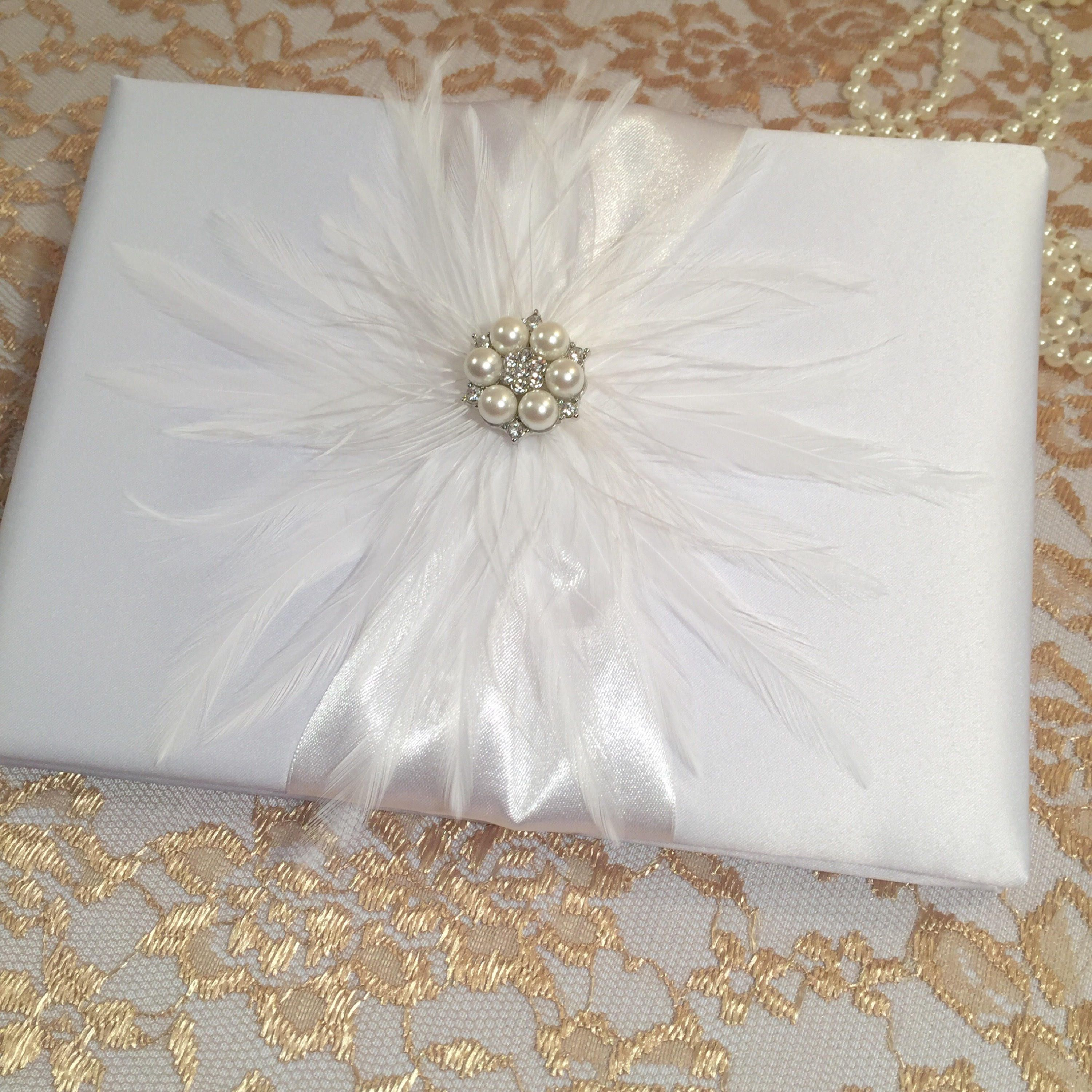 White Vintage WEDDING GUEST BOOK Idea Baptism Guest Book Christening Decorations Reception Sign In