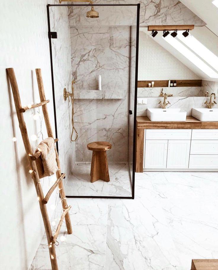 Photo of Holzdetails gemischt mit dem klassischen Design aus Marmor #design # mixed #ho -…