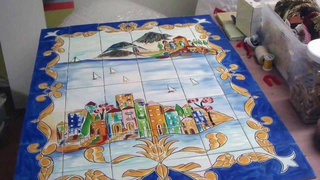 Custom hand painted tile mural httpsetsylisting this tile mural is one of a kind custom hand painted porcelain indooroutdoor murals for backsplash pool fireplace etc dailygadgetfo Gallery