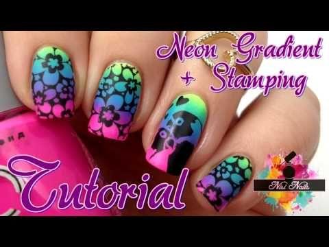 Nageldesign Fur Kurze Nagel Blumen Stamping Nail Art Tutorial