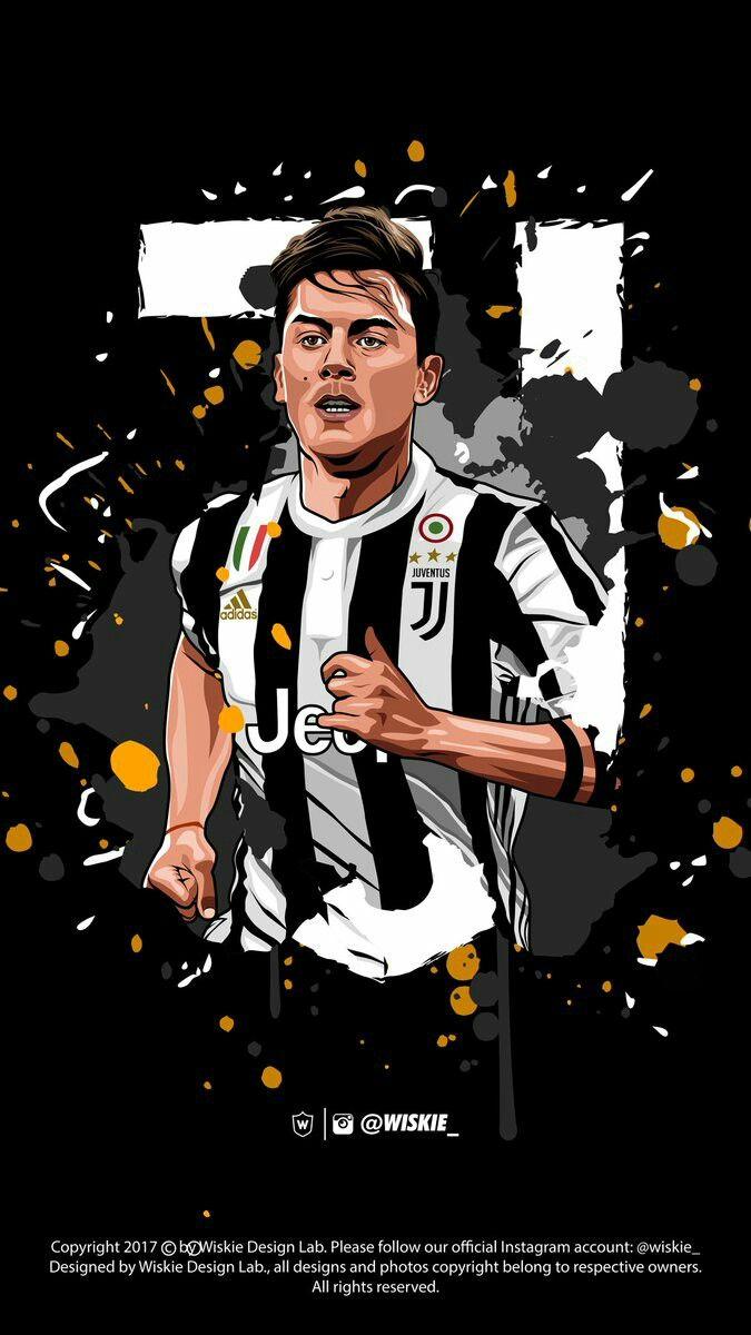 Pin De Cukie Moreno Ponce En Juventos Arte De Futbol Dibujos De Futbol Poster De Futbol