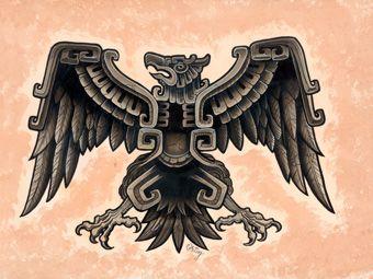 Aztec eagle chicano arte pinterest aztec eagle and for Aztec tattoo shop phoenix az