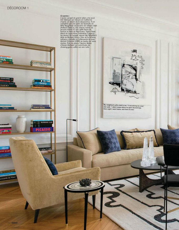 Mid Century Modern living room featured in Ideat