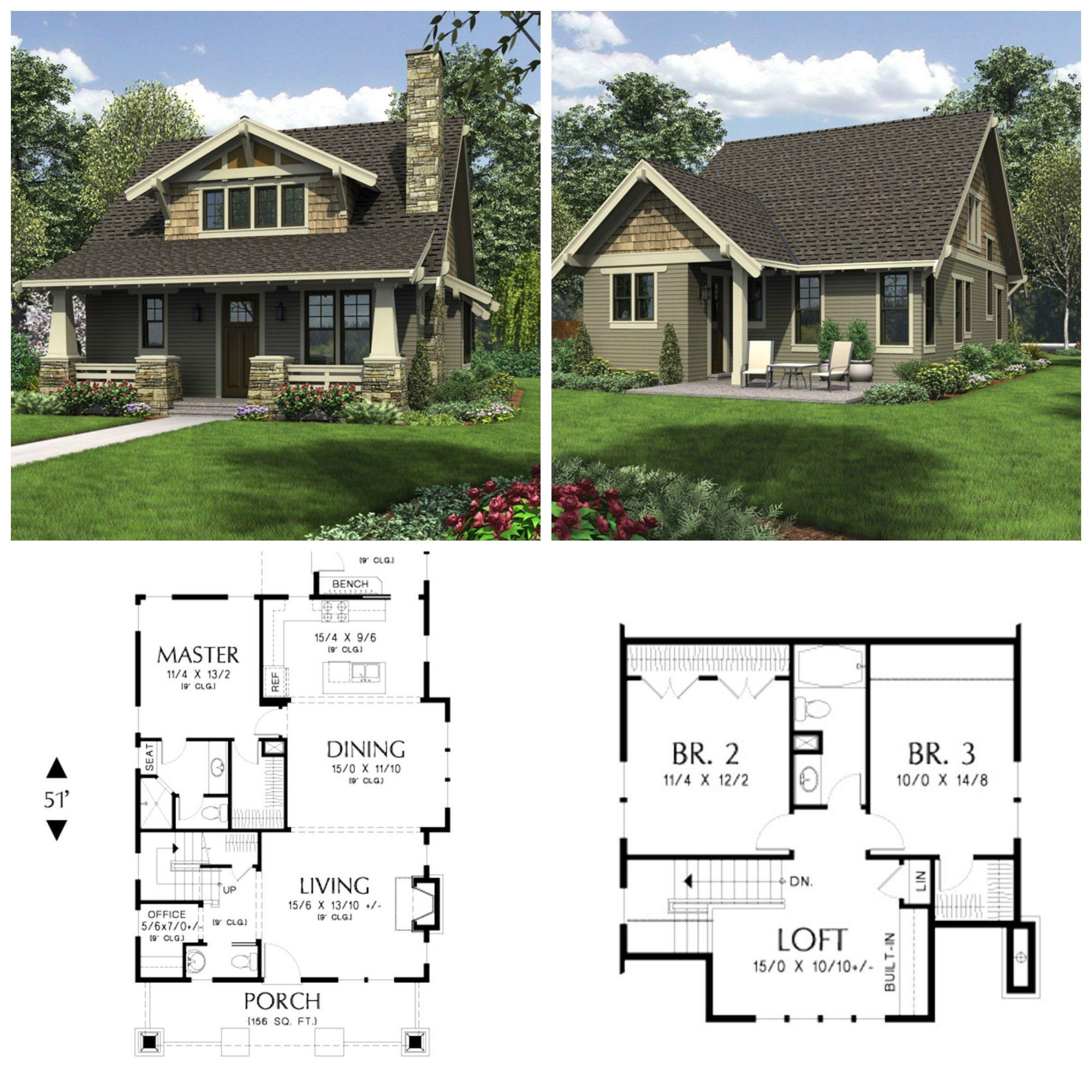 Bungalow House Plans 3 Bedrooms No Garage In 2020 Bungalow Style House Plans Small Cottage House Plans Bungalow House Plans